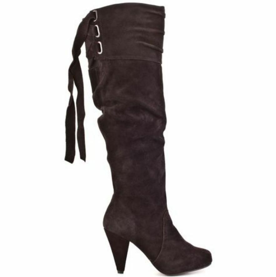 Naughty Monkey 'Fearless' Suede Boots in Chocolate Brown - Size 7.5