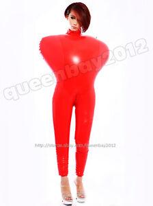 100/% Latex Rubber Gummi 0.45mm Catsuit Bodysuit Suit Fashion Red