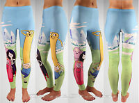 Adventure Time With Finn And Jake Marceline Bubblegum Leggings Yoga Pants