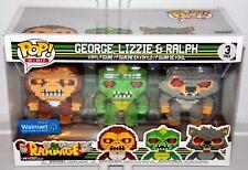 Funko Pop Rampage 8-bit 3pk George Lizzie & Ralph Childrens Toys