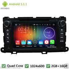 8'' Quad Core Android 5.1 Car DVD Player Radio GPS For Toyota Sienna 2009-2013