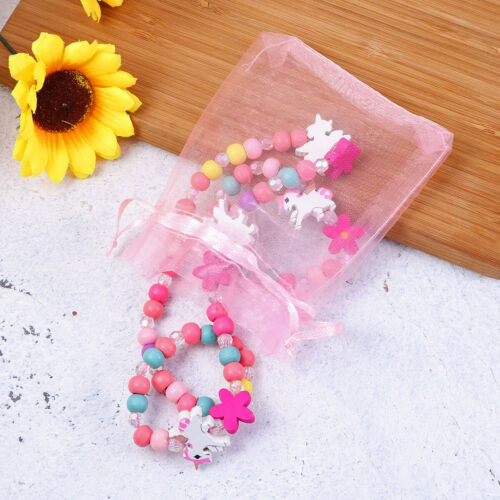 Enfants Bijoux Coloré Perles Filles Collier pour Festival Fête D/'Anniversaire