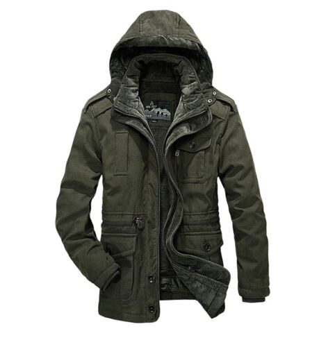 AFS JEEP Men/'s Jacket Coat Autumn Winter Tourism Fishing Hunting Removable Cap