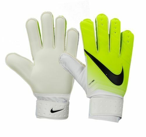 NWT NIKE GK Match Soccer GOALIE GLOVE Volt White GS0330 GOALKEEPER Adult  Size 10 c9d4f3427