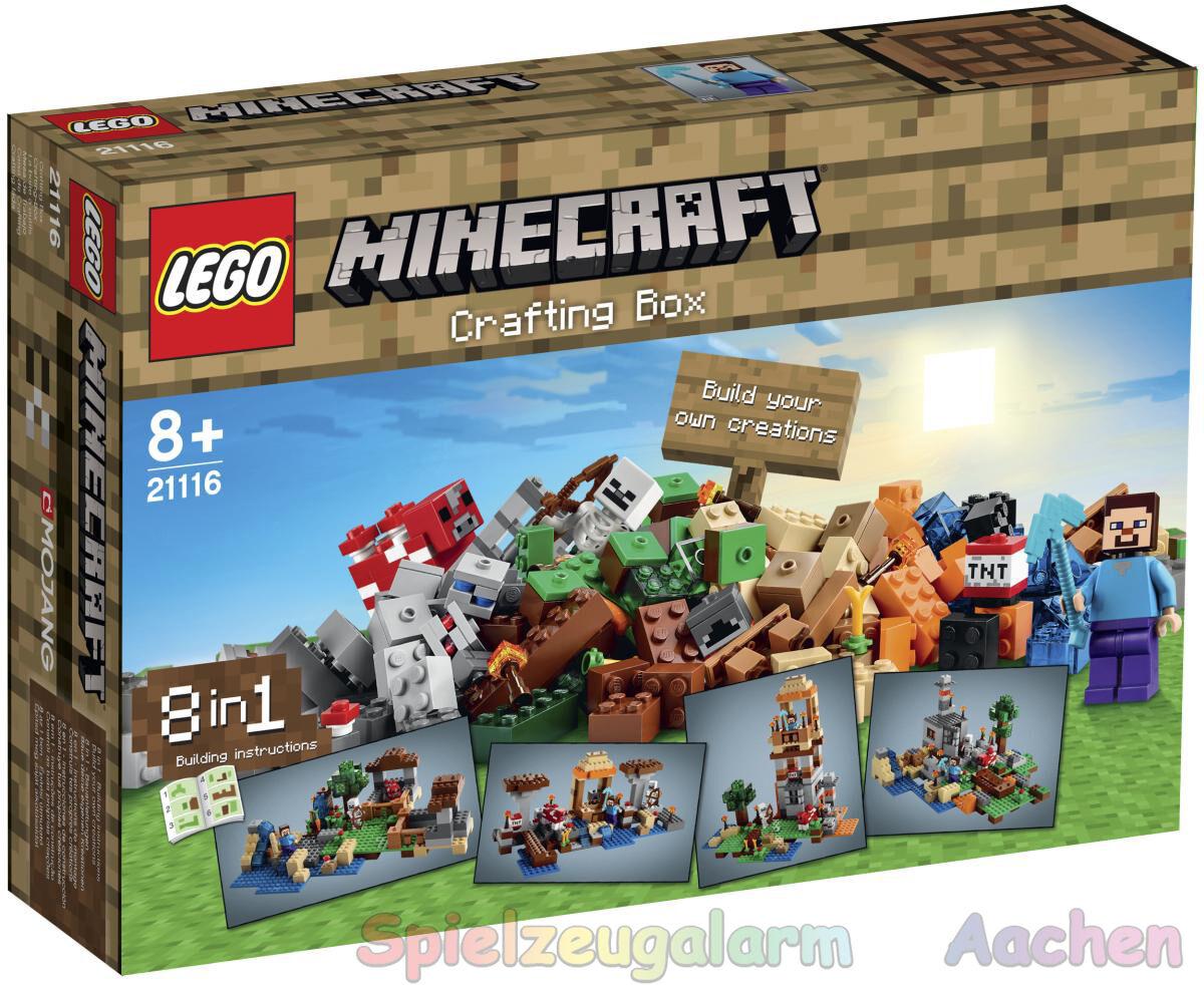 LEGO 21116 Minecraft Creative Crafting Box mit Steve Skelett Pilzkuh
