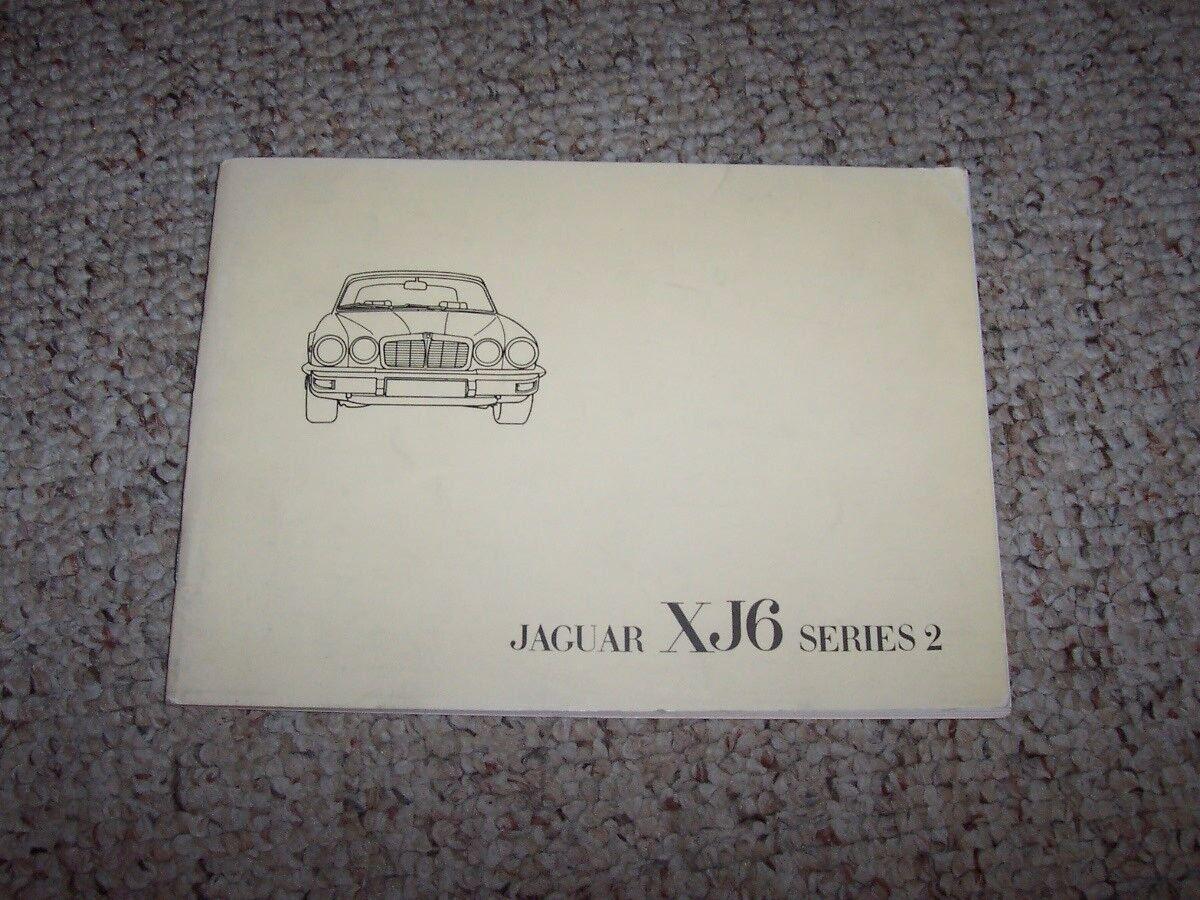 1976-1977 Jaguar XJ6 Series II 2 Factory Original Owner's Owner User Manual Book