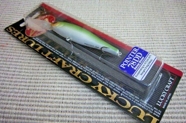 """2 Lucky Craft Made In JAPAN Pointer 78DD 3/"""" Suspending Crankbaits Mat Pumpkin"""