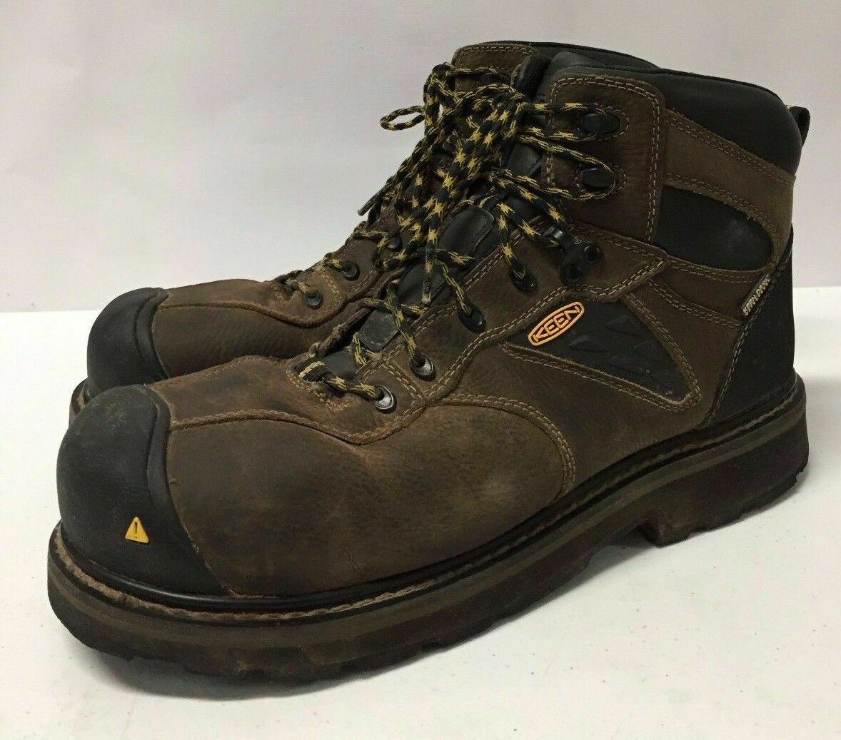 Keen Mens Brown Utility Tacoma WP Work Boots shoes Size 11.5 EE