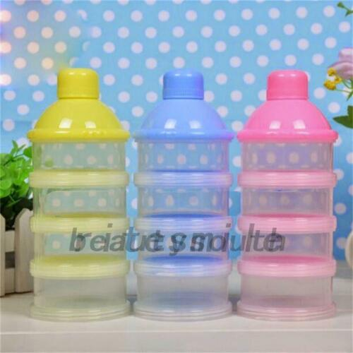 4 Layers Infant Baby Milk Powder Feeding Dispenser Storage Case Container Travel