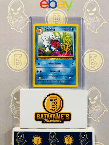 Seaking 46//64 1st Edition NM Near Mint Jungle Set Non-Holo Pokemon Card