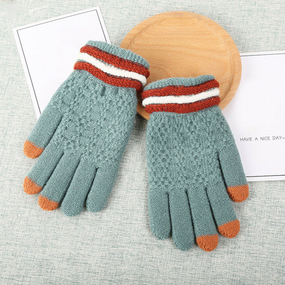 1 Pair Fashion Knitted Chic Touch Screen Full Finger for Camping