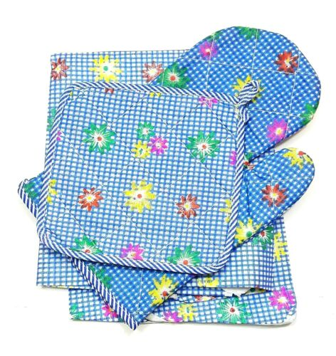 1 PACK KITCHEN OVEN MITT GLOVES COOKING POT HOLDER APRON SET SMALL HOME DINING