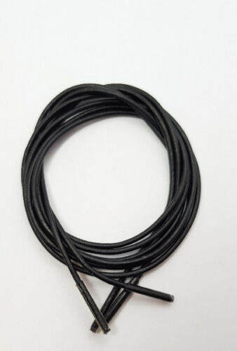 70 cm long fit elegant shoes Leather laces round Black 3 mm