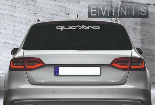 AUDI QUATTRO OUTLINE REAR WINDOW VINYL STICKER CAR DECAL  60cm DEFAULT WHITE X1