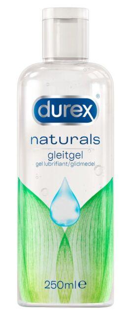 Durex Naturals Gleitgel - wasserbasierend, natürlich, ph-neutral, 250 ml