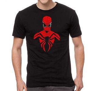 Spiderman homecoming spider man silhouette costume movie film 2017 black t-shirt