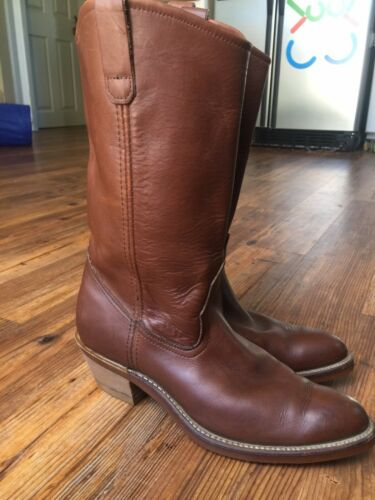Red Wing Pecos Motorcycle Cowboy Boot Men size 9 D