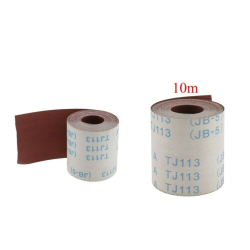 2 Pieces(320/&600 Grits)10m Abrasive Cloth Emery Cloth Roll for Metal Glass