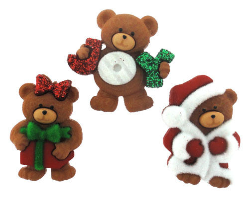 Jesse James Buttons ~ Dress It Up  ~ A BEARY MERRY CHRISTMAS ~ CHRISTMAS BEARS