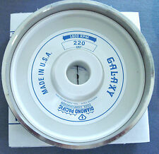 """rle 6"""" GALAXY DIAMOND PACIFIC GRINDING WHEEL, 220 GRIT, for GENIE, OR CABKING"""