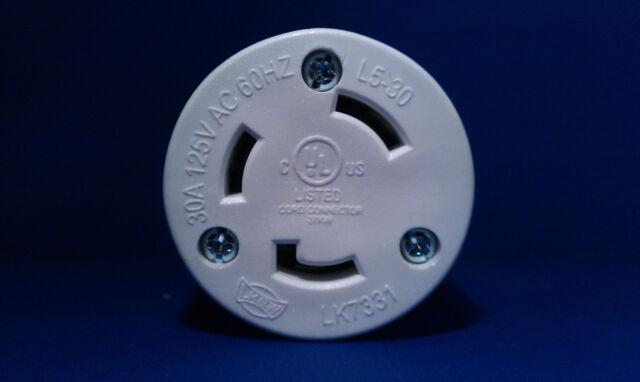 Cooper L5-20R Female Twist-Lock Plug 120 Volt 20 Amp Connector