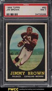 1958 Topps Football Jim Brown ROOKIE RC #62 PSA 7 NRMT