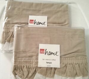Jcpenney Jcp Home Tanya Tan White Ruffled Tier Valance