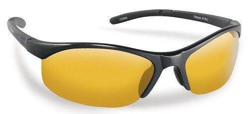 Flying Fisherman Action Angler 7793BY Bristol Black Yellow-Amber Sunglasses