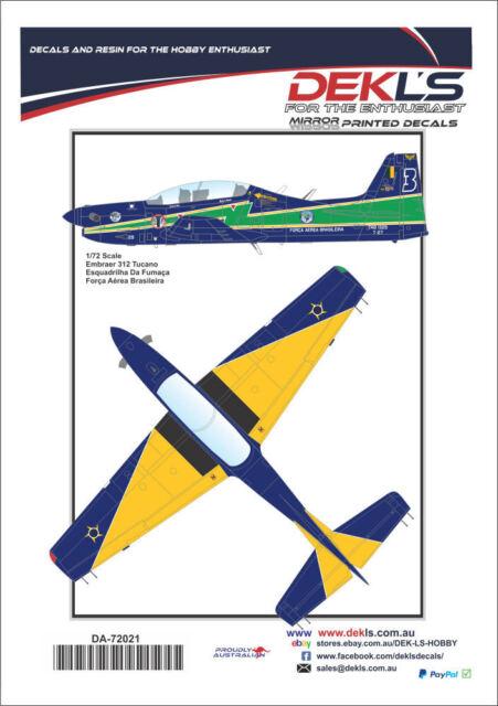 Decals Embraer Tucano - Esquadrilha Da Fumaca Aerobatic Team 1/72 Scale