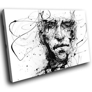 Image Is Loading Zab193 Black White Face Cool Modern Canvas Abstract
