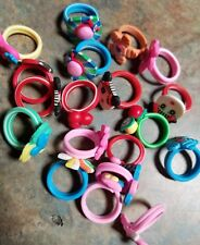 Vending Machine Capsule Toys Or Resell 19 Rings Rubberfun Colorful Kids Size