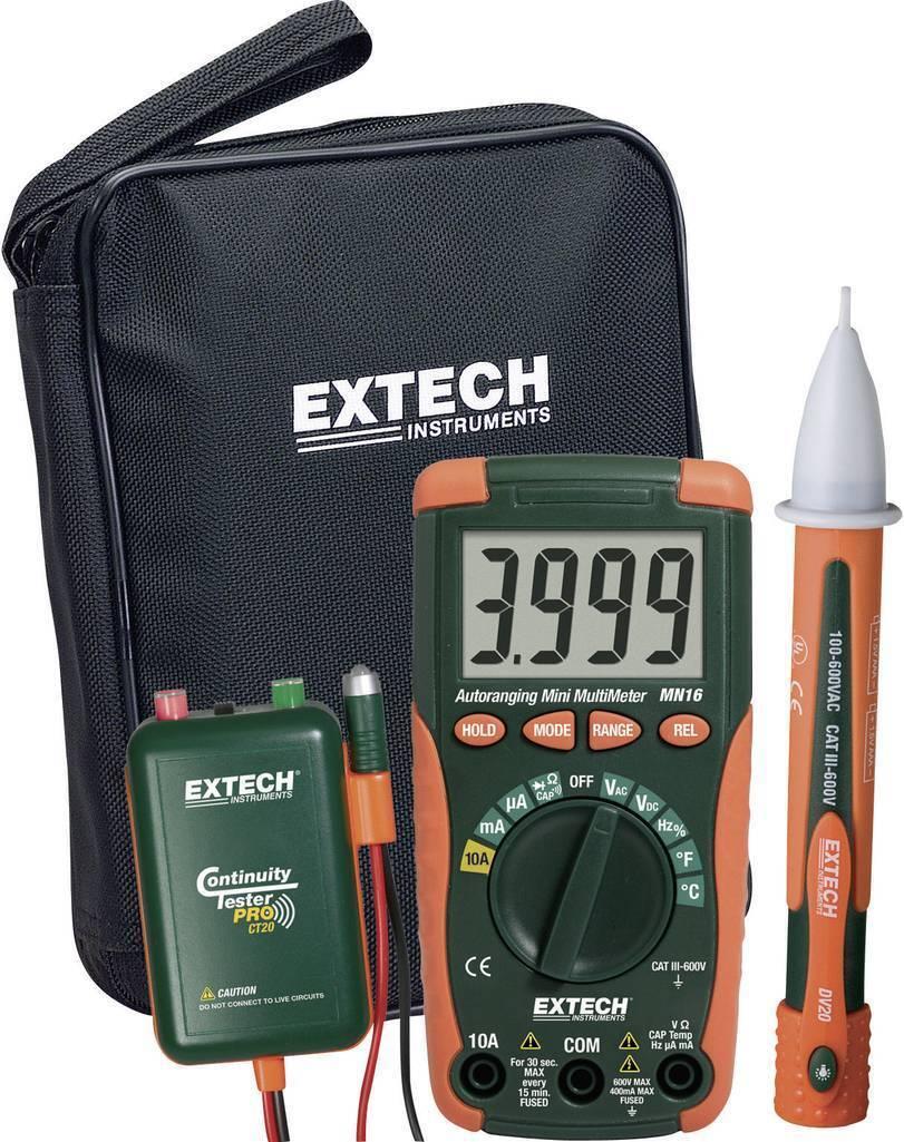Extech Elektriker-SET Mn16kit-Eu Multimeter Durchgangs und Spannungsprüfer