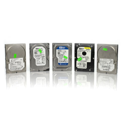 """Lot of 5 Assorted Dell HP WD Seagate 80GB 3.5/"""" SATA Hard Drives Tested /& Wiped"""