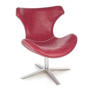 Poltrona Ecopelle Rossa.Dettagli Su Poltrona Design Ecopelle Pelle Rossa Moderno Poltroncina Seduta Sedia Poltrone