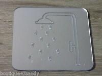 Miroir Motif Douche 9.5x9.5cm Indication Douche Adhesif A33