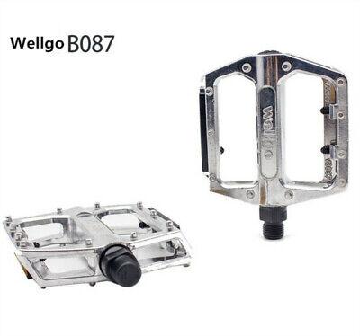 Wellgo 9//16 C1DU Alloy Metal Mountain Bike Bicycle MTB BMX Flat Pedals