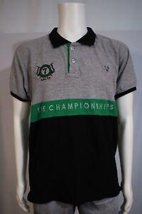 37ec152a Allen Solly Men's XL Wimbledon Tennis Championship Gray Black SS ...