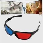 Black Frame Red Blue 3D Glasses For Dimensional Anaglyph Movie Game DVD DF