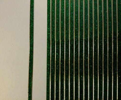 Stickerbogen 1293 Nr Linien Rot Glitzer