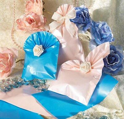 Buste Regalo A Sacco Azzurro Perlato Cm.25x40 Cf.50 Pz. Morbido E Leggero