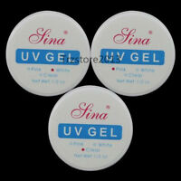 Unbranded 3 Nail Art Uv Gel Builder Tips Glue Clear Pink Extension Manicure Kit