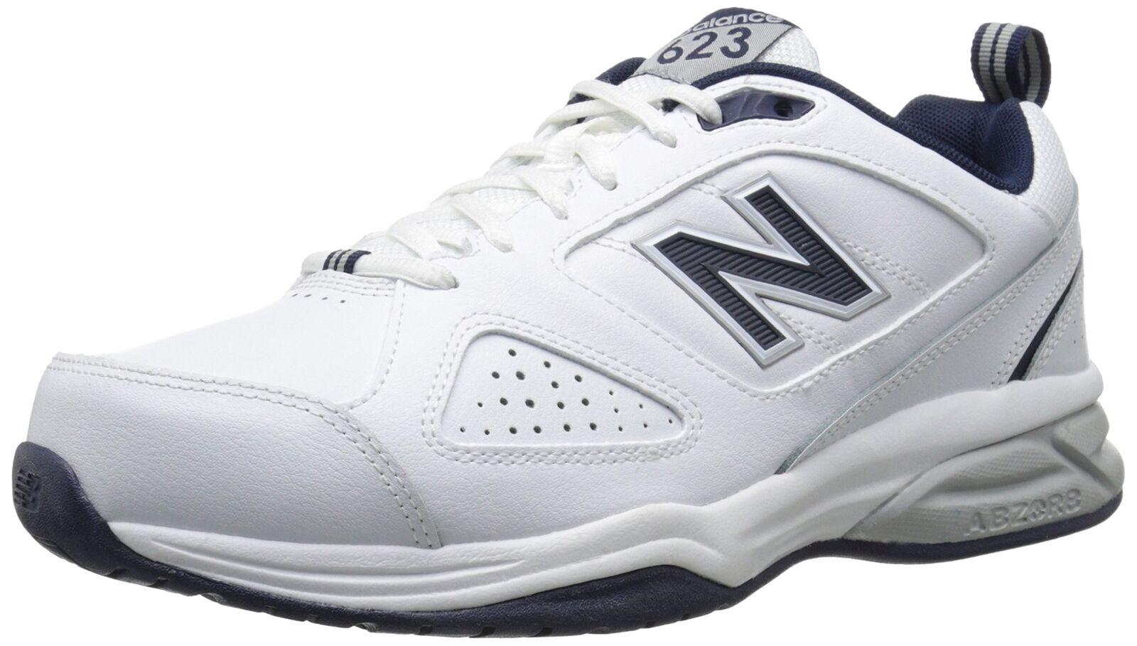 New Balance Men's MX623v3 Training shoes White Navy 10.5 2E US