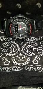 Casio-G-Shock-G-100-5158-Digital-Analog-Black-Resin-Band-Men-039-s-Watch