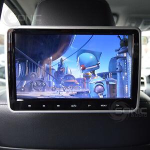 universal car hd headrest dvd player screen usb sd hdmi. Black Bedroom Furniture Sets. Home Design Ideas