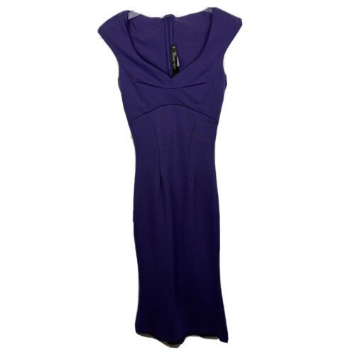Laura Byrnes Wiggle Dress XS Purple Pinup Couture