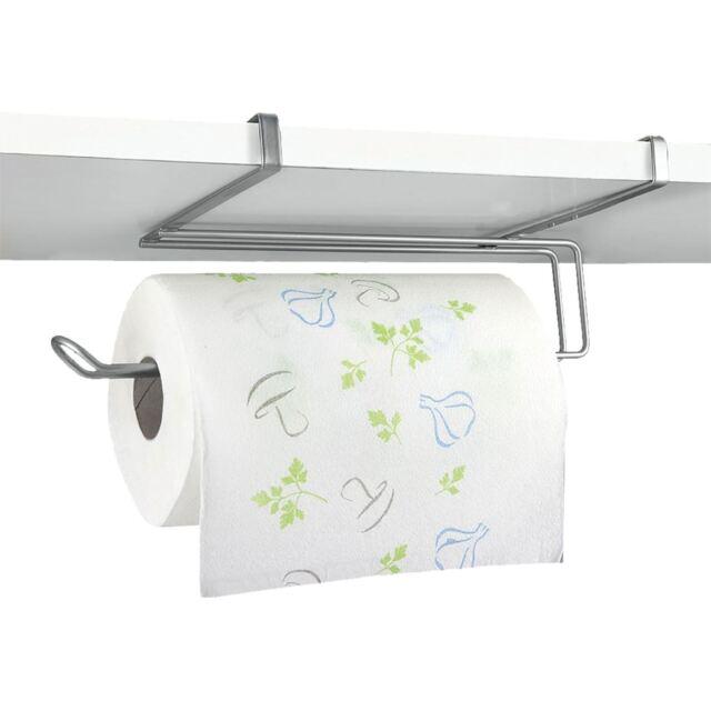 Wall Mounted Under Shelf Cabinet Kitchen Roll Holder Paper Towel Dispenser