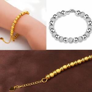 Fashion-Women-Jewelry-24K-Gold-Beads-Bracelet-Jewelry-Christmas-Gift-S