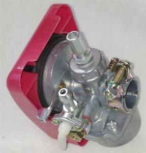 80cc gas Motor ENGINE parts -  speed Carburetor w on/off Red cover