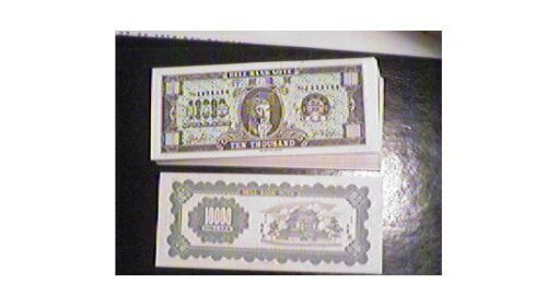 HELL BANKNOTES 8 DIFFERENT US CURRENCY TYPES