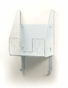 Spectrum 89300 Wall-Mount Ironing Board Holder with Basket, White by Spectrum